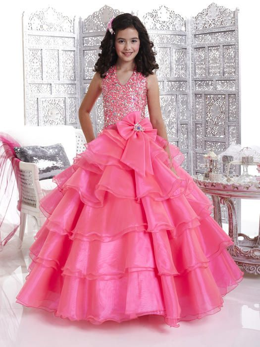 Girls Pageant Dresses by Tiffany - 33428 Candy Pink - Size 4 6 8 ...