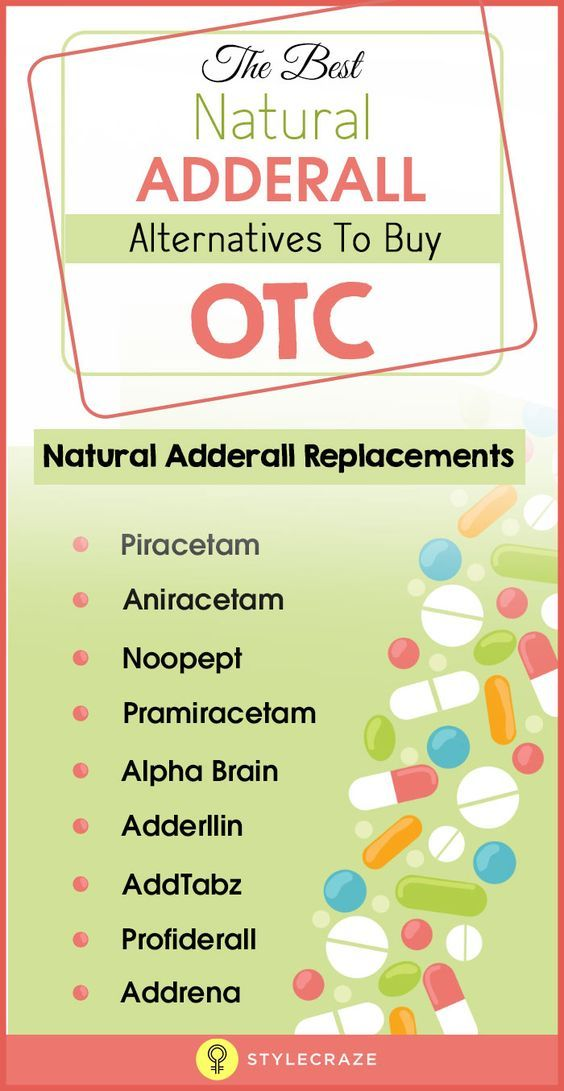 The Best Natural Adderall Alternatives To Buy OTC | Colin