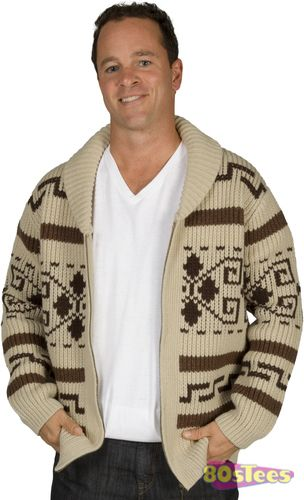Manufactured exclusively for 80sTees.com, this Dude's Sweater resembles the Cowichan Sweater worn by The Dude in The Big Lebowski.  The pattern and construction match the one worn by The Dude.