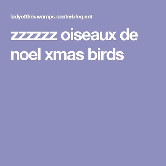 zzzzzz oiseaux de noel xmas birds
