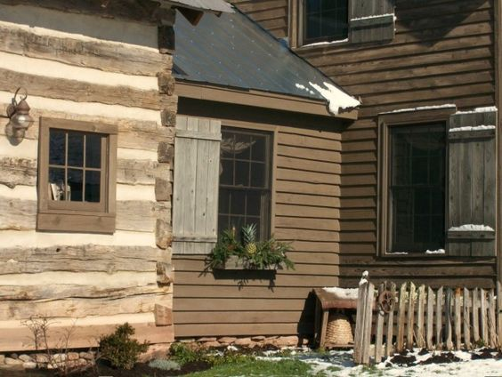 Colonial Logs And Cabin On Pinterest