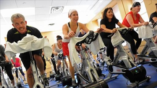 """No one in the history of gyms has ever lost a pound while reading """"The New Yorker"""" and slowly pedaling a recumbent bicycle. No one."""