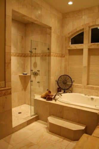 Bathrooms A L Abode: L Shaped Tub And Shower Combo