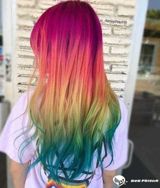 95 Cooles Regenbogen Haar Das Es Wert Ist 2019 2020 Ausprobiert Zu Werden Hair Coole Bob Bobfrisuren Co Rainbow Hair Color Summer Hair Color Hair Styles