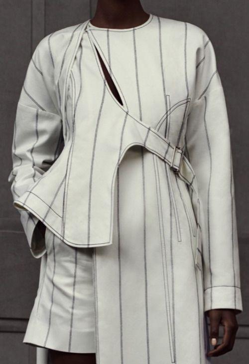 Innovative Pattern Cutting - asymmetrical tailoring; sewing; contemporary fashion detail // Balenciaga Resort 2016