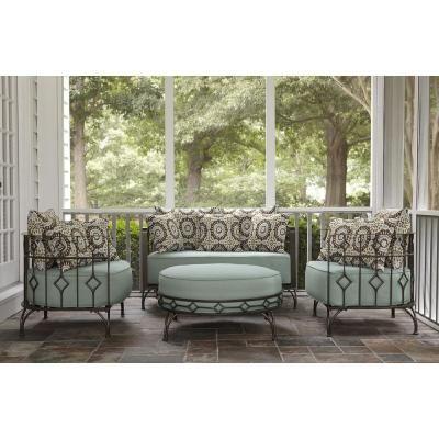 Ty Pennington Style Weldon Deep Seating Cushion Ottoman Limited Availability Blue