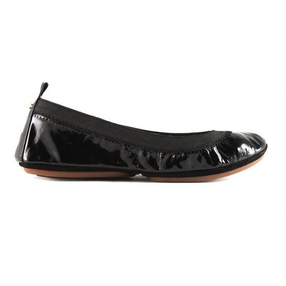 Black leather Ballet Flat: The Samara by Yosi Samra