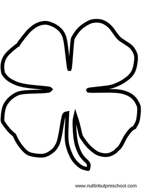 Large Shamrock Outline For 4 Things That Make Me Feel Lucky