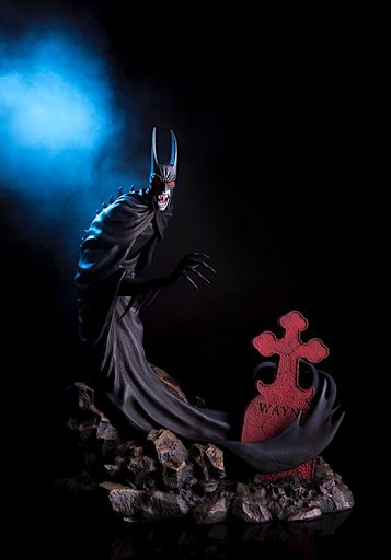 BATMAN RED RAIN Statue Available to Order Now from MONDO