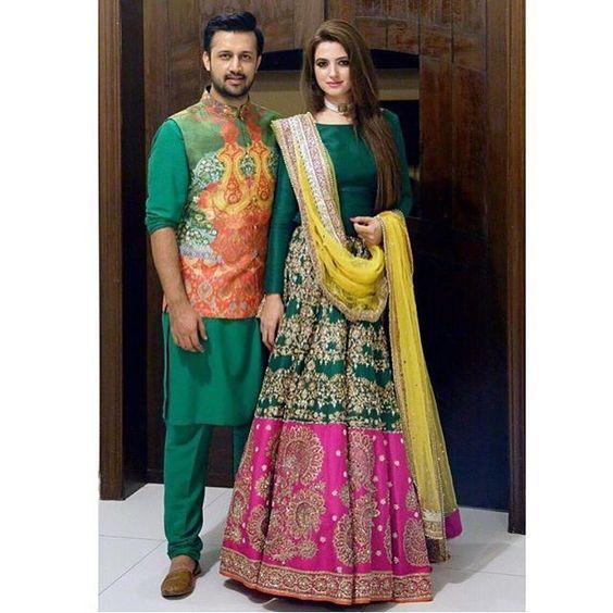 Ако една цветна координирана двойка е това, което си отиваш за .. Ето някои вдъхновение идва от другата страна .. това #emerald теглително оборудване от @ allixeeshantheaterstudio .. Cc: @ ATFASAMM ти изглеждаш така #dapper !!!!  #outfits #lehenga #kurta #emeraldgreen #indianwear