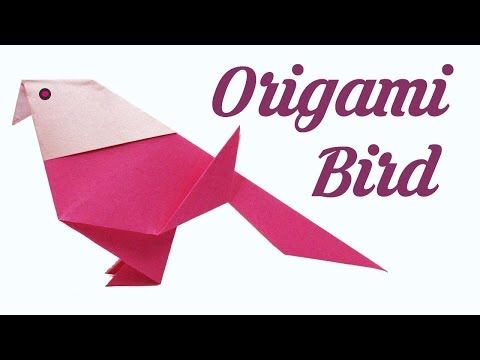 Origami Bird Easy Origami For Kids Basic Origami Simple Origami For Beginners Youtube Easy Origami For Kids Paper Craft Work Origami Bird