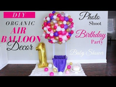 This Beautiful Diy Decor Is A Great Idea For Your Baby Shower Your Child S 1st Or Diy Hot Air Balloons Hot Air Balloon Decorations Birthday Decorations Kids