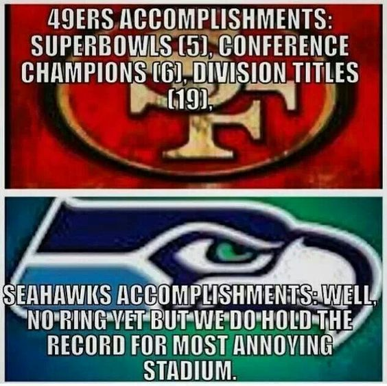 49ers Accomplishments VS Loud and annoying whole lot of nothing!