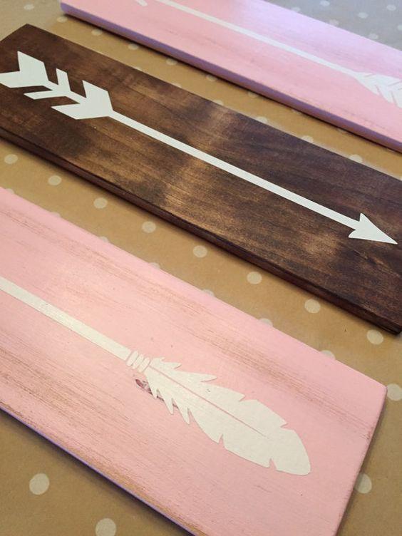 Tribal Arrow Nursery Signs Modern Rustic by LittleNickyDesigns
