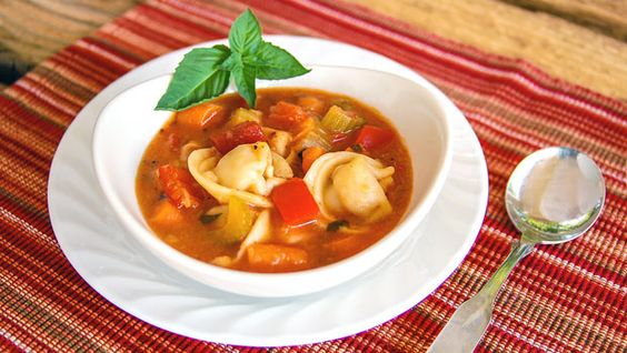30-Minute Tortellini and Vegetable Soup by the slowroasteditalian: Hearty, veggy, comfort food. #Soup #Veggie #Tortellini #Quick #slowroasteditalian