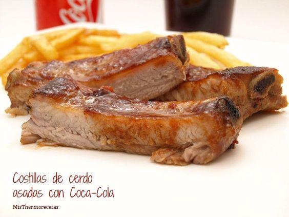 Costillas de cerdo asadas con Coca-Cola