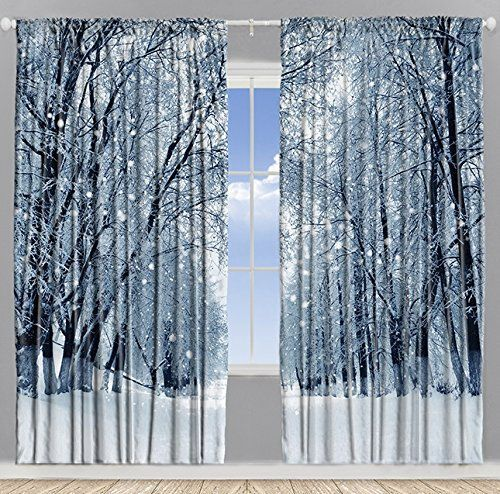 Drapes That Look Like Trees Walk In The Forest Or Simple Freshness You Choose Snowy Trees Winter Home Decor Decor