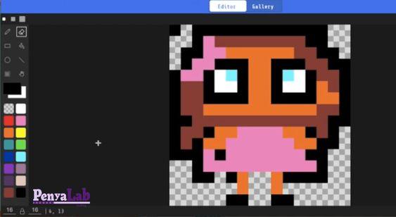 Makecode Arcade – Dibuixar amb píxels