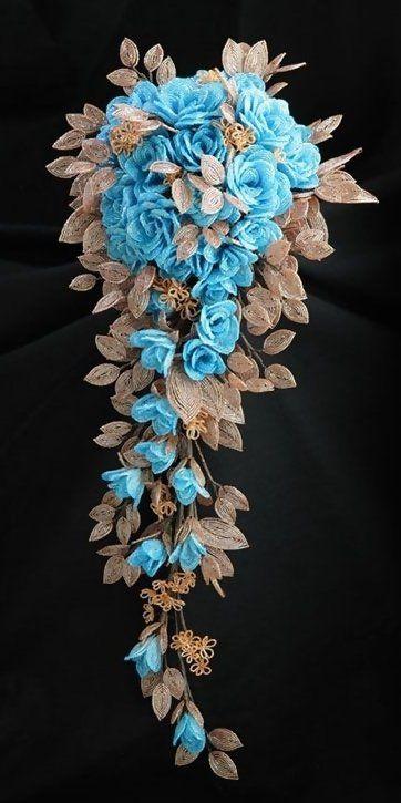 ~~Blue Rose Bouquet ~ Beadwork by Hiromi Takemura~~