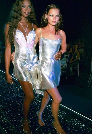 Kate Moss and Naomi Campbell at the 'Diamonds Are Forever' Millennium Celebration, Syon House, London, Britain - 09 Jun 1999