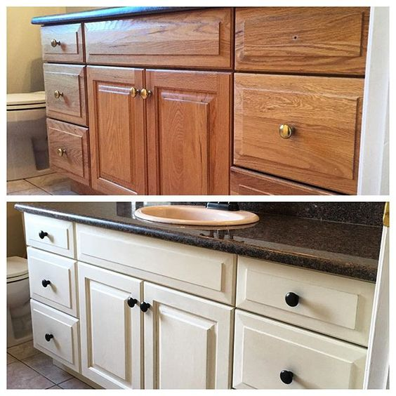 Best Chalk Paint Kitchen Cabinets: This Week's Bathroom Cabinet Revival! We Used Two Coats Of