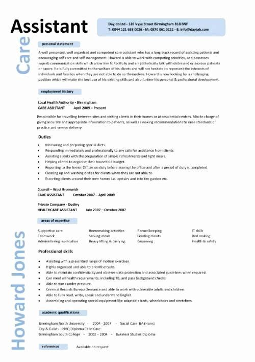 Personal Assistant Resume Example Awesome Care Assistant Cv Personal Care Assistant Resume Template In 2020 Engineering Resume Civil Engineer Resume Job Resume Samples