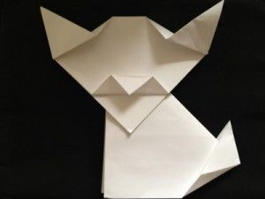 Directions to Fold Origami Dog or Cat | Art Sphere, Inc.