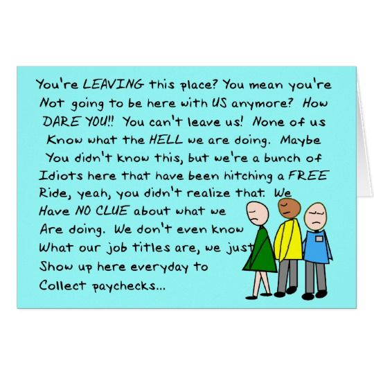 Hilarious Group Co Worker Leaving Card Zazzle Com Farewell Quotes For Coworker Co Worker Leaving Leaving Cards