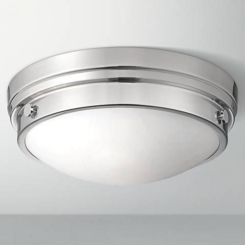 Culver Collection 13 1 4 Wide Chrome Ceiling Light 2y616 Lamps Plus Ceiling Lights Lamps Plus Flushmount Ceiling Lights