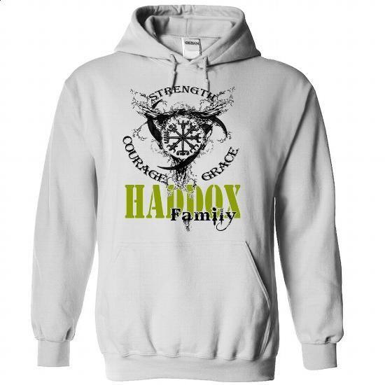HADDOX Family - Strength Courage Grace - #best friend shirt #swetshirt sweatshirt. BUY NOW => https://www.sunfrog.com/Names/HADDOX-Family--Strength-Courage-Grace-lbkzqwxrww-White-51032986-Hoodie.html?68278