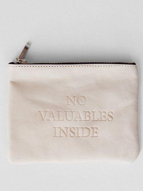 no valuables inside.: Valuable Inside, Valuables Inside, White Bags, Handbags Fetish, Leather Wallets, Bags Purses Wallets, Coin Purses, Inside Wallet