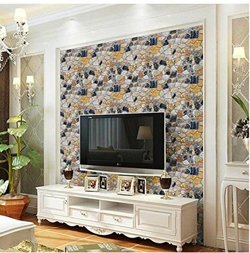 Living Room Wallpaper Ideas Irregular Stone Bricks Wallpaper 3d Removable And Waterproof Pvc Self Wall Stickers Room Home Decor Uk Wall Stickers Home Decor