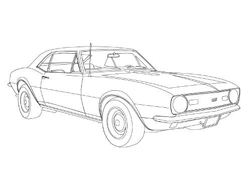 how to draw a 67 chevy camaro