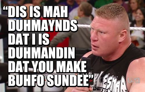 He's no country bumpkin anymore!    #wrestling  #wwe  #raw  #brock #lesnar