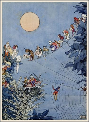 by William Heath Robinson   The Fairy's Birthday  ~ Holly Leaves (Magazine) December 1925