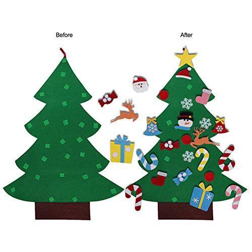Christmas Tree Kid Crafts Christmas Fun Diy Felt Christmas Tree Christmas Tree Crafts Felt Christmas Tree