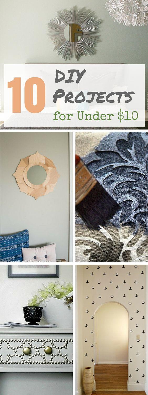 10 brilliant home decor diy ideas for $10 or less | diy ideas, diy