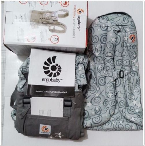 New Ergo Original Baby Carrier Galaxy Grey With Gray Infant Insert Ergobaby Baby Carrier Ergobaby Baby Carrier Baby Sling Carrier