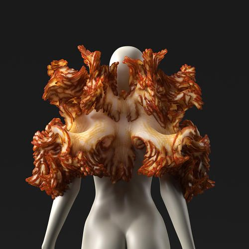 These Crazy Bacteria-Filled Spacesuits May Be What Let Us Survive On Other Planets | Co.Exist | ideas + impactIf you want to visit the moons of Jupiter or Saturn someday, you might end up wearing a 3D-printed spacesuit filled with bacteria. Al-Qamar, from the Wanderers collection. Designed by Neri Oxman. In collaboration with Christoph Bader and Dominik Kolb; produced by Stratasys on the Objet500 Connex3 3D Production System