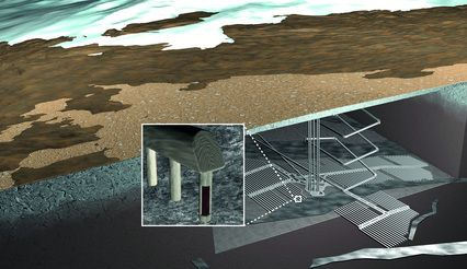 ONKALO. Nuclear waste final disposal project. Situation after 100 000 years. Illustration: Posiva Oy Olkiluoto