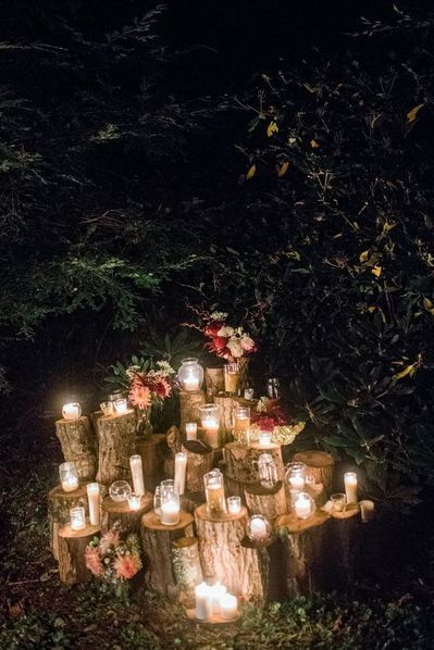 Whimsical Fairytale Wedding Ideas - A PRINCESS INSPIRED BLOG | Magical Candle Lighting in a Forest