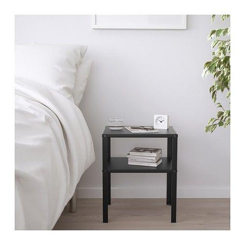 Knarrevik Table Chevet Noir 37x28 Cm Chevet Noir Table De