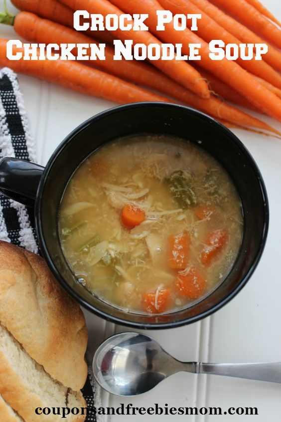 Easy Crock Pot Chicken Noodle Soup Put It In A Jar For