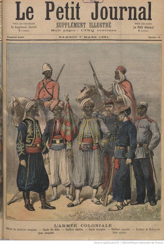 L'Armee Coloniale, 7 mars 1891 Le Petit journal. Supplément du dimanche