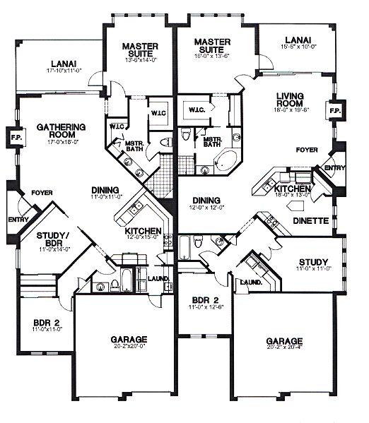 Garage Plan Chp 17570 At Coolhouseplans Com: Duplex Plan Chp-26044 At COOLhouseplans.com