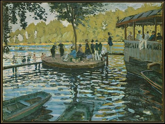 """""""La Grenouillère"""", 1869 Artist: Claude Monet (French, Paris 1840–1926 Giverny)"""