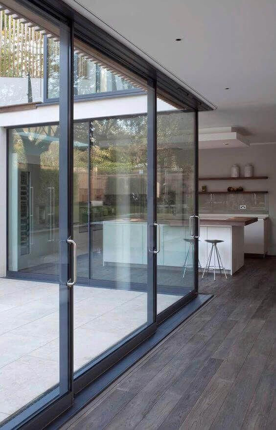The Cloister Of Wood This Separation Nature And Modern Patio Interior Sliding Doors Exterior Sliding Patio Doors