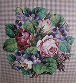 Berlin WoolWork Roses & Violets Pattern ~ Knechtel Berlin: