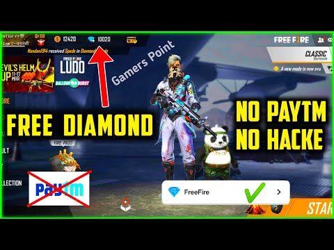 Free Fire Free Diamond No Paytm No Redeem Code Get Unlimited Diamond Without Paytm Youtube Free Gift Card Generator Hack Free Money Diamond Free