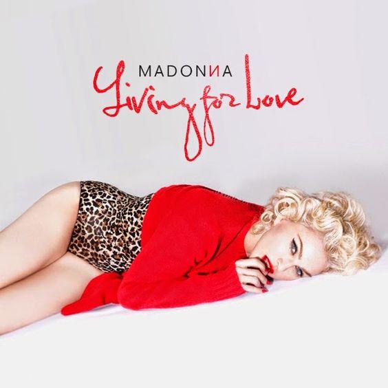 Madonna – Living for Love (single cover art)